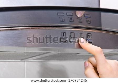 cooker hood  - stock photo