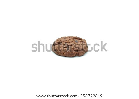 Cookie chocolate chip and Sugar cookie isolated on white background