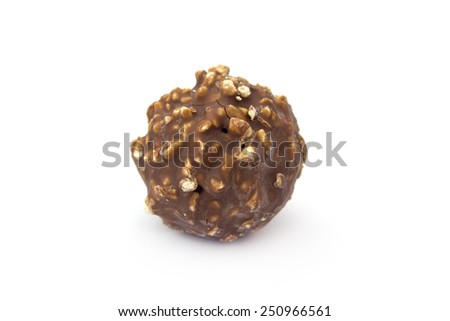 cookie chocolate isolated on white background - stock photo
