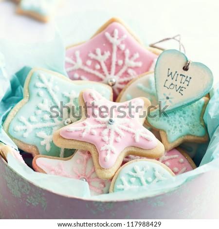 Cookie gift box - stock photo