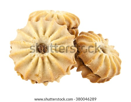 cookie is isolated on a white background - stock photo