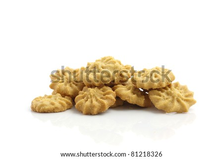 Cookie isolated in white background - stock photo