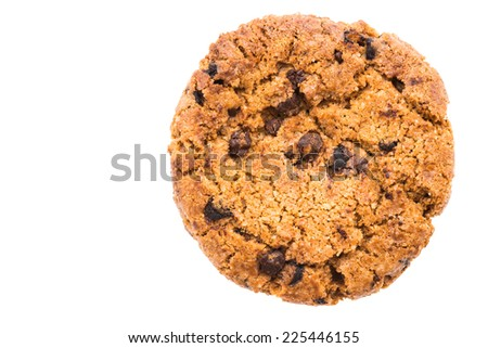 Cookie isolated on white - stock photo