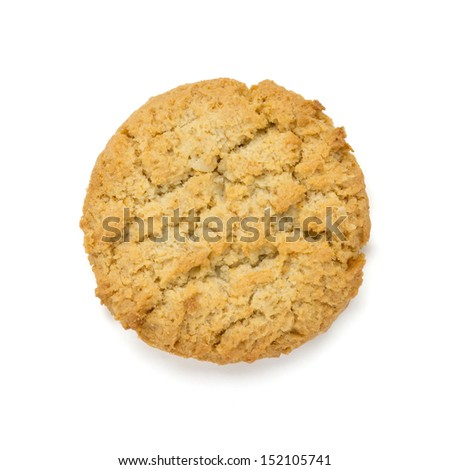 Cookie isolated on white background - stock photo