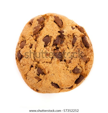 cookie on white background - stock photo
