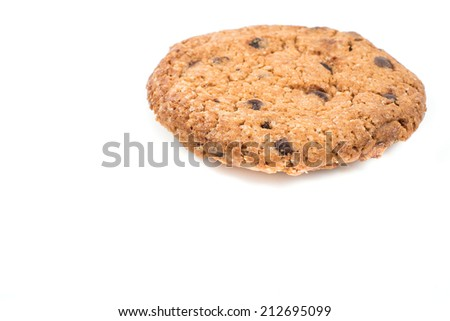 Cookie on white isolated background