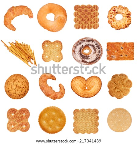 Cookie set - stock photo