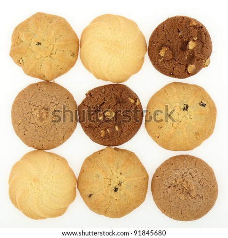cookie sweets on white background - stock photo