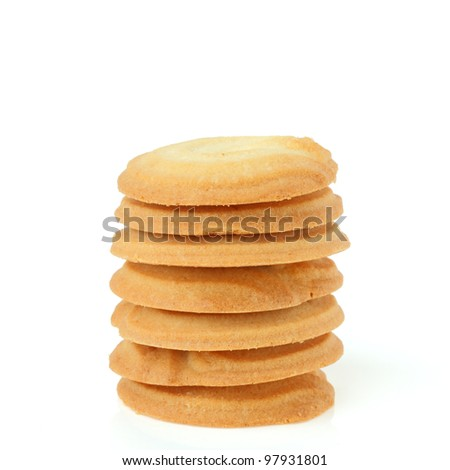 cookie sweets on white background