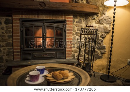 Cookies and fireplace