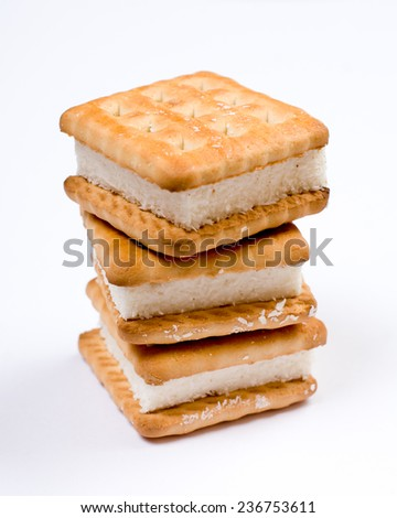 Cookies assortment closeup isolated - stock photo