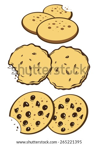 Cookies biscuits - stock photo