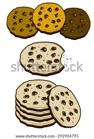 Cookies biscuits - stock photo