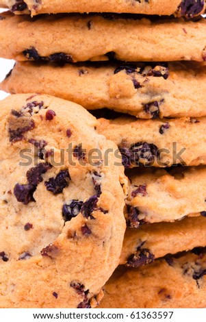 Cookies close up