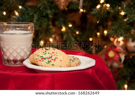 Cookies for Santa - stock photo
