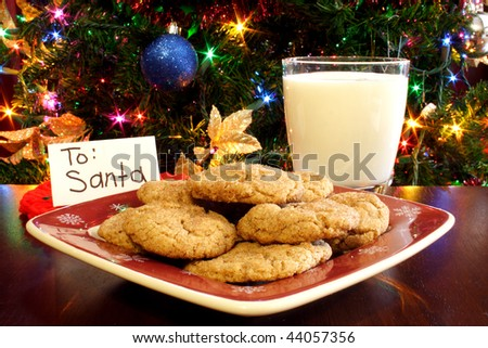 Cookies for Santa - stock photo