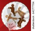 Cookies for Santa - raster - stock vector
