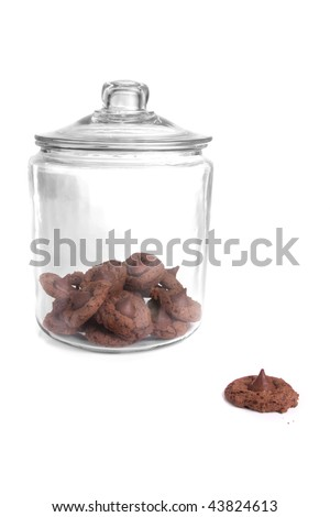 Cookies in a jar. - stock photo