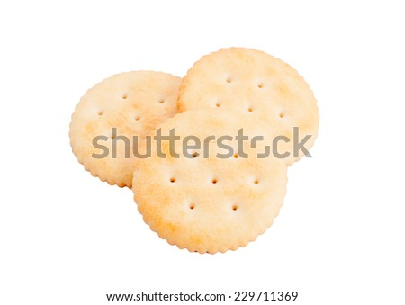 cookies in stack isolated on white with clipping path - stock photo