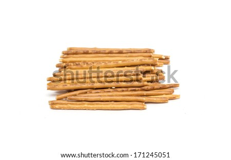 Cookies in the form of sticks. Photo.