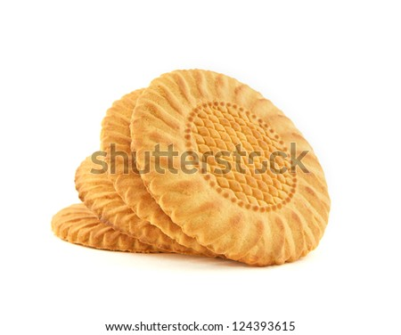Cookies isolated on a white background