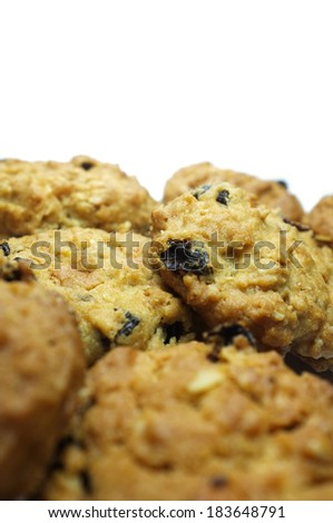 cookies isolated on white background - stock photo