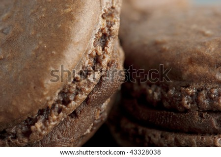 cookies on a black background