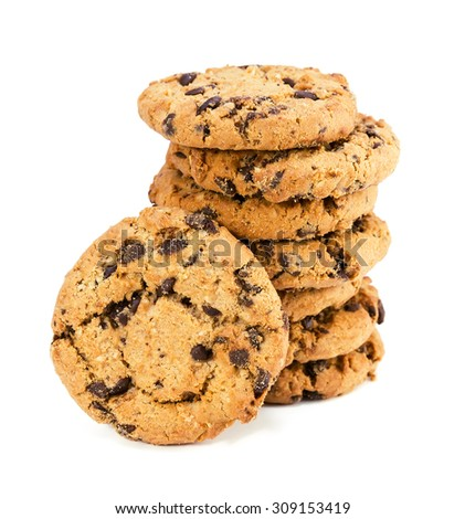 Cookies on a white background - stock photo