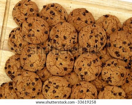 Cookies on cutting board - stock photo