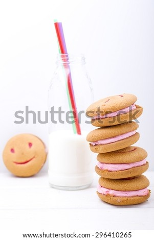 cookies smile - stock photo