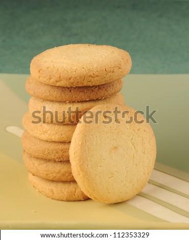 cookies,Stack of cookies - stock photo