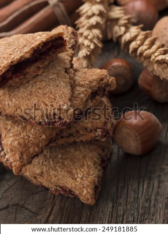 cookies with ingredients - stock photo