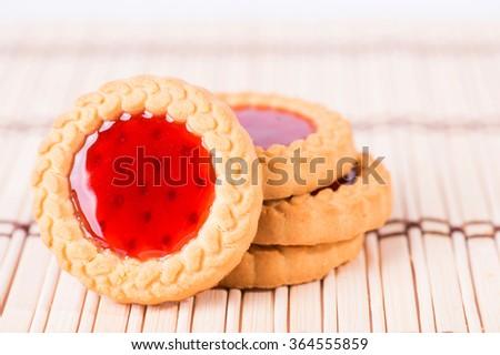 Cookies with jam - stock photo