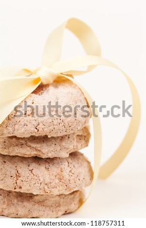 cookies wrapped with yellow ribbon