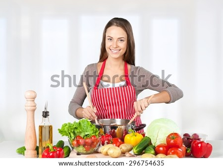 Cooking, Child, Healthy Eating. - stock photo