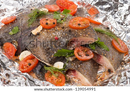 Cooking fish - stock photo