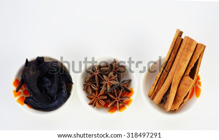 Cooking ingredients,spices and herbs