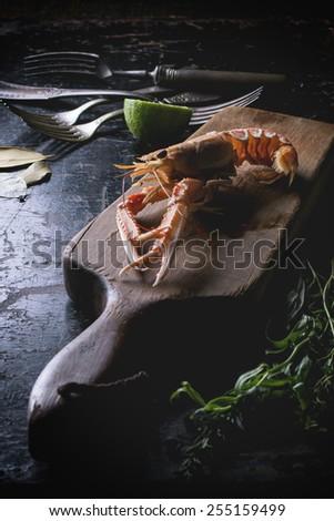 Cooking langoustine - stock photo