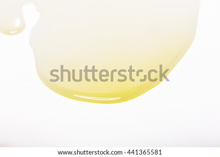 cooking oil  flow on a white background