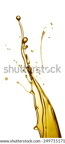 cooking oil splashing isolated on white background - stock photo