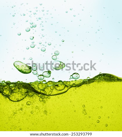 cooking oil with bubbles as food background - stock photo