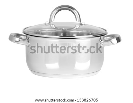 Cooking pan. Isolated