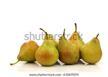"cooking pears ""Gieser Wildeman"" on a white background"