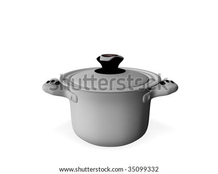 cooking pot - stock photo
