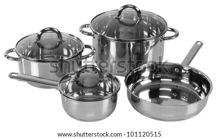 Cooking pots. Isolated