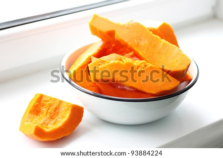 cooking pumpkin - stock photo