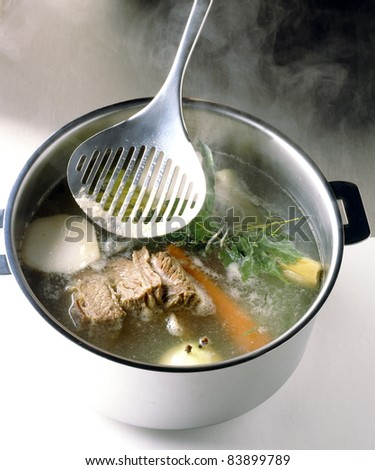 Cooking the vegetables - stock photo