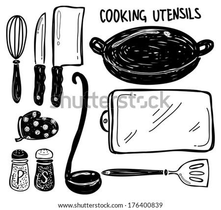 cooking utensils - stock photo