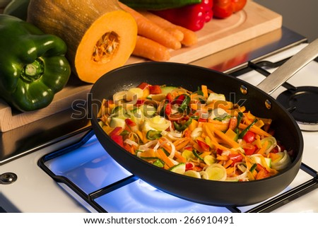 Cooking vegetables mix - stock photo