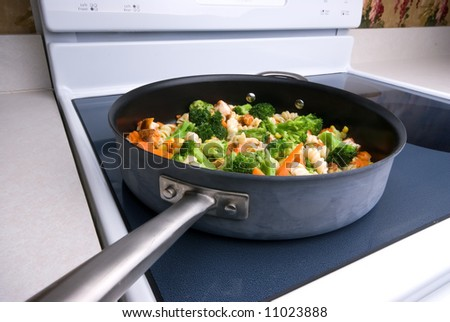 Cooking vegetables on the stovetop